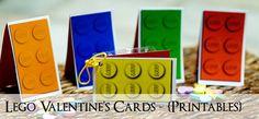 Printable DIY Lego Valentine's Cards!