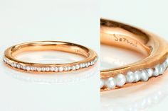 Teeny tiny fresh water pearl ring--so pretty!!