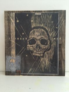 Hand-carved skull on black-stained pine wood collage wall art // momento mori  // skeleton // bone // anatomy // Capuchin Crypt // monk by vwdesignstudio on Etsy https://www.etsy.com/listing/269998259/hand-carved-skull-on-black-stained-pine