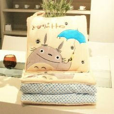 Ghibli My Neighbor Totoro Pillow Folded Quilt Blanket