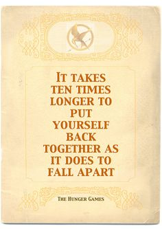 A4/A5 Poster of The Hunger Games Quote by littlemissjanuary,