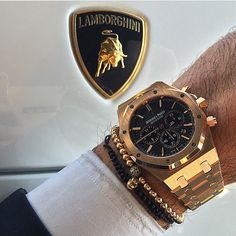 The perfect match #lamborghini and #audemarspiguet ________________________________________Photo by @avikoren #watch #luxury #money #lifestyle #rich #dubai #success #supercar #gold #time #wristgame #millionaire