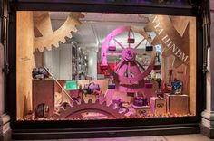 "Selfridges London      	Anya Hindmarch created a moving ""All I Want For Christmas"" display for the corner window on Oxford Street.   Courtesy of Selfridges"