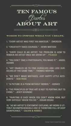 Ten quotes about art