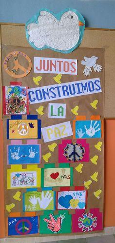 Mural realizado gracias a las familias de los niños de mi clase 0/1 años