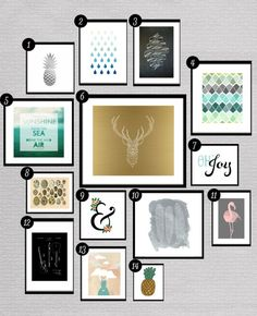 Roundup: Free Printables for Gallery Walls • Little Gold Pixel