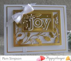 Hello everyone, Need a Festive Card in a hurry, cannot get much simpler than this make.White card and Gold Mirri card. How achieved depth to the holly Vine Sidekick frame. I have cut two die cuts in gold Mirri, on. Diy Christmas Cards, Christmas Settings, Handmade Christmas, Christmas Ideas, Memory Box Cards, Pop Up Box Cards, Step Cards, Anna Griffin Cards, Green Theme