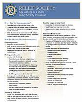 Responsibilities - Relief Society Presidency