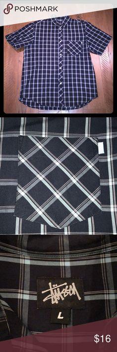 Stussy Men's Button Up Blue plaid Men's button up. Stussy Shirts Casual Button Down Shirts