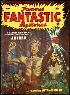 Boasts very literary authors, like Franz Kafka and Ayn Rand, as well as a cover by Lawrence. From June, 1953.