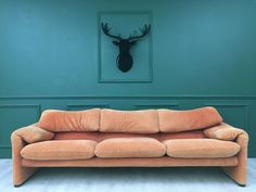 Vintage Retro Orange Maralunga Cassina Designer 3 Seater Sofa Vico Magistretti | Cassina | Vinterior 3 Seater Sofa, Summer Sale, Best Brand, Retro Vintage, Design, Home Decor, Chaise Longue, Decoration Home, Room Decor