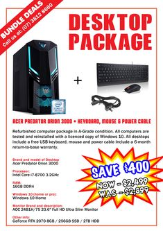 Technology Traders offers bundle deal offers at Booval Store. Refurbished Computers, Power Cable, Desktop, Samsung Galaxy, Laptop, Packaging, Technology, Store, Blog