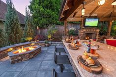 Staycation Landscape design in Camas, Washington, by Paradise Restored Landscaping & Exterior Design in Portland, Oregon You are in the right place about patio landscaping Here we offer you the Read Outdoor Kitchen Patio, Outdoor Kitchen Design, Rustic Outdoor Kitchens, Rustic Patio, Outside Patio, Small Patio, Backyard Patio Designs, Backyard Landscaping, Landscaping Ideas