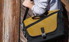 Cargo Laptop Bag - WaterField signature messenger - SFMade - http://www.sfbags.com/collections/briefcases/products/cargo-laptop-bag