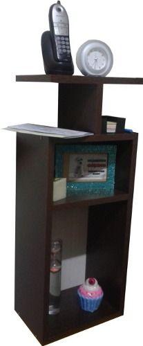 Mesa De Luz Apoyo O Telefono Para Colgar, Cubo Con Estante, melemina de 18mm