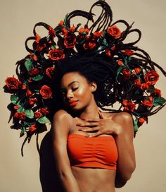 Roses are red locs are lust... gorg @vivid_intro. #locs #curlytreats