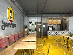 Design Eco Fast Food Picture gallery is part of Food pictures - View full picture gallery of Design Eco Fast Food Food Design, Zen Design, Cafe Design, Coffee Shop Interior Design, Coffee Shop Design, Modern Interior Design, Small Restaurant Design, Restaurant Interior Design, Corporate Design