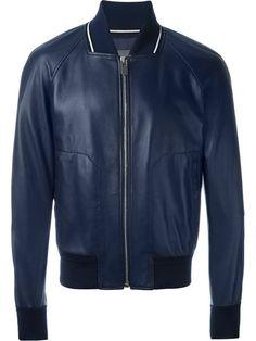BALLY Zipped Leather Jacket. #bally #cloth #jacket