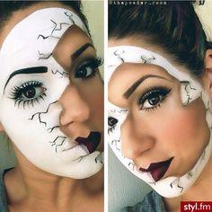 Maquillaje Halloween por Makijaże Artystyczne + Información sobre nuestro CURSO: http://curso-maquillaje.es/msite-nude/index.php?PinCMO
