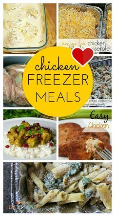 Easy chicken freezer meals are a must have for meal planning!  Here's some great ideas to keep your freezer stocked!