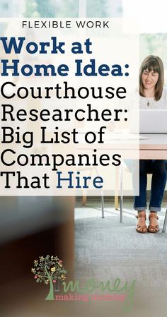 Here's a  list of Courthouse Research Jobs. This is a flexible, part-time way to make money from home. #parttimeworkfromhome