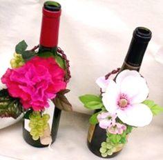 Wine Bottle Decorations For Weddings | wine bottle toppers pink wedding decorations wine bottle centerpieces
