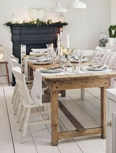 FleaingFrance Brocante Society Beautiful dining. Can we make a table like this for me?