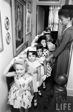Love this old pic--teaching posture