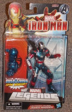 2012 Marvel Legends James Rhodes Iron Patriot Figure New In The Package