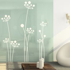Simple Mod Dandelions - Set of 7 - Wall Decals Stickers Graphics. if they're not too large, they would be pretty in the kitchen White Wall Decor, Flower Wall Decor, Wood Wall Decor, Home Design Decor, Wall Design, Home Decor, Colores Benjamin Moore, Wall Stickers, Wall Decals