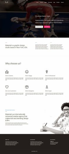 Material Is A Fully Featured Multipurpose, Responsive, Bootstrap Based HTML  5 #WordPress