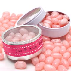 Clear Top Wedding Favor Tins - click here