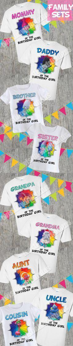 Trolls Family Shirt Set | Trolls Birthday Party Ideas | Trolls Birthday | Troll Birthday Shirt | Trolls Matching Family Shirts | Birthday Party Ideas for Girls | Twistin Twirlin Tutus #trollsbirthday #kidsbirthdayparty