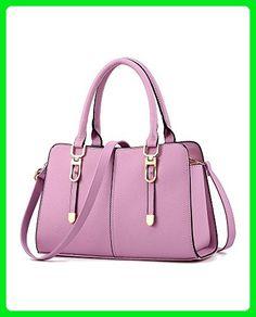 Women s Fashion PU Leather Handbags Sweety Satchel Boutique Tote Purse  Crossbody Bag Purple - Totes ( 1b1cc1f4ace58