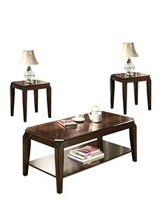 ACME Furniture 80655 Docila 3Piece Coffee End Table Set Walnut ** For more information, visit image link.(It is Amazon affiliate link) #inspiration