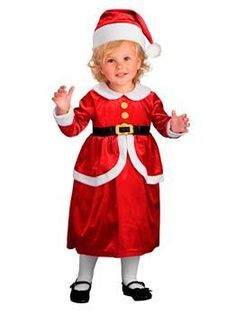 64e20440e Girls Toddler Lil Mrs. Claus Costume - Toddler Mrs Claus Dress, Dress Up  Outfits