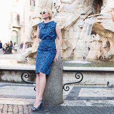 free dress pattern - Blaues Shiftkleid (19/3)
