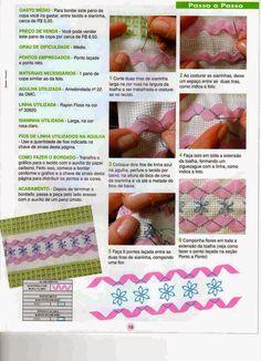 Ric rac trim on Towel,    Artesanato com amor...by Lu Guimarães: Revista Bordados em Sianinha n 2