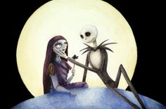 Cross Stitch Pattern for Sally and Jack Skellington Nightmare Before Christmas by TheStitchingGirl on Etsy https://www.etsy.com/listing/177414611/cross-stitch-pattern-for-sally-and-jack