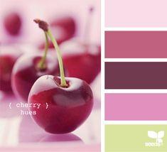 cherry hues by Design Seeds Colour Pallette, Colour Schemes, Color Combos, Color Patterns, Design Seeds, Think Food, Colour Board, Color Stories, Color Swatches