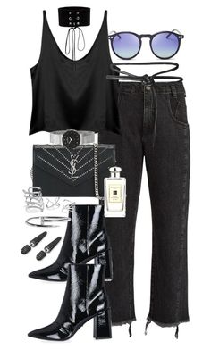 """Possibilities"" by marissa-91 ❤ liked on Polyvore featuring Rachel Comey, Manokhi, Yves Saint Laurent, Topshop, Leka, Wildfox, Skagen, Bling Jewelry, Jo Malone and GUESS"