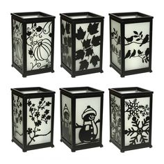 """TQ13005 Lantern Decorative Candle Lantern with LED Flameless Candles with Timer-12 Piece Replaceable Surface, Black, 558.5"""""""