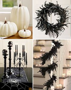 halloween. Find some thrift store candle sticks and paint them black