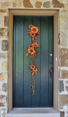 I love this decorative door idea.