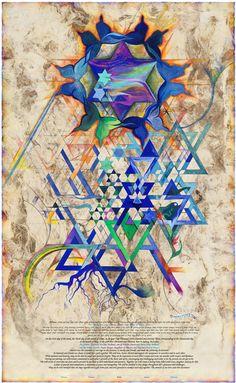 """""""Written in the Stars""""   Ketubah   Artist: Nava Shoham"""