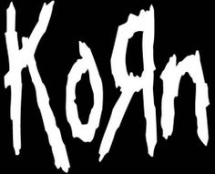 The metal band 'KoRn' have text that is jumbled with it's upper and lower case lettering, as well as involving tatters and sharp edges to break any smoothness, representing the genre they belong to. Nu Metal, Heavy Metal, Music Love, Rock Music, Amazing Music, Metal Bands, Rock Bands, Rockband Logos, Rock And Roll