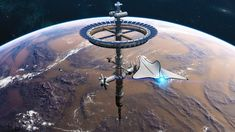 Space Station Orbit, Space Colony, Space Fantasy, Spaceship Concept, Spaceship Design, Science Fiction Art, Space Travel, Space Crafts, Sci Fi Art