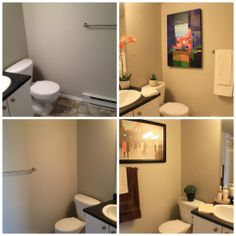 Staged bathrooms