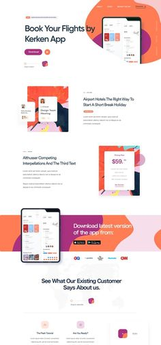 Dribbble - app_landing_page.png by Shekh Al Raihan ✪ App Landing Page, Landing Page Design, Web Layout, Layout Design, Website Design Inspiration, Website Template, App Design, Layouts, Design Projects
