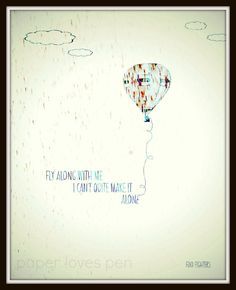 Foo Fighters Learn To Fly lyric Art Song Quote 8X10 Typography Poster Print